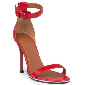 Givenchy Red Nadia Leather Sandals 39