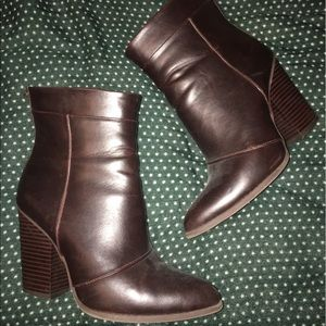 A+ Ellen Shoes - Brown faux leather boots, worn once!
