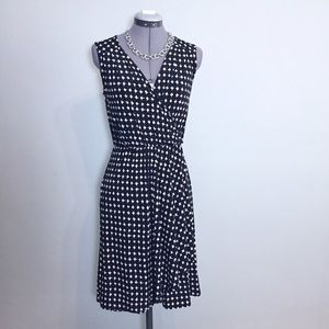 Merona Black & White Faux Wrap Dress