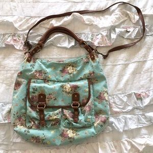 Handbags - Olsenboye floral turquoise boho purse bag