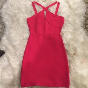 BCBGMaxAzria Dresses & Skirts - BCBGMAXAZRIA Hot Pink Bandage Dress