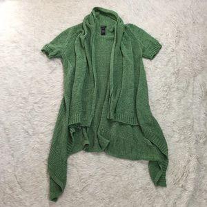 Lafayette 148 New York Sweaters - Lafayette 148 open knit green waterfall cardigan S
