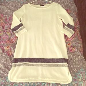 White striped terry summer dress from Gap