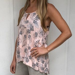 Hi-low pink top