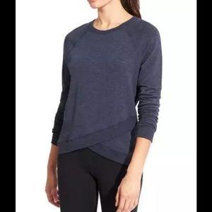 Athleta Tops - ATHLETA Criss Cross Sweatshirt Navy Heather