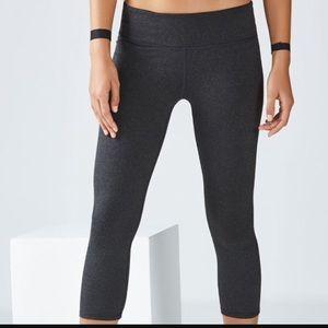 Fabletics dark gray cropped leggings