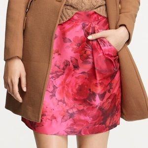 NWOT {Jcrew} jacquard origami skirt