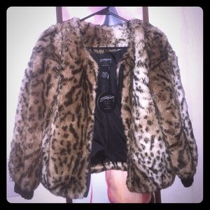 Stussy Kimba Faux Fur Coat