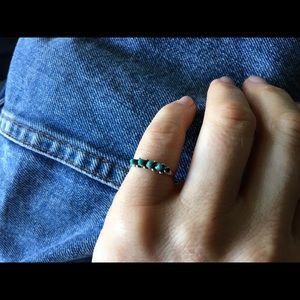 American Vintage Jewelry - Vintage Turquoise Zuni Ring
