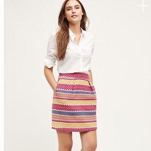 EUC {Anthro} Nomad Jacquard Skirt