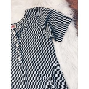 Vintage Pants - FINAL❗️Vtg 80s B&W Striped Romper Jumpsuit SM