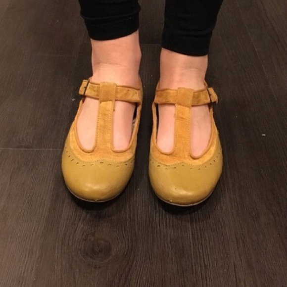 76% off Cooperative Shoes - Adorable mustard yellow t ...