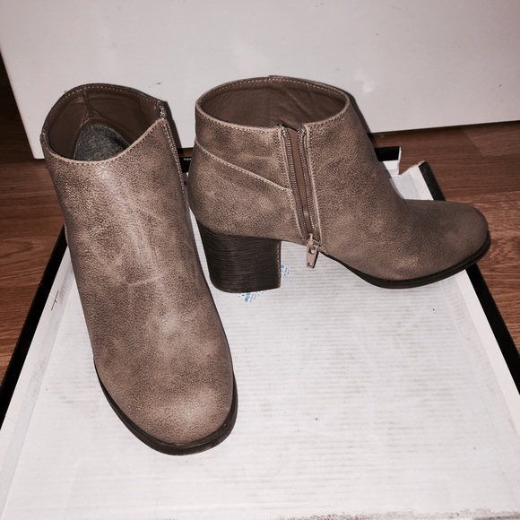 40% Off Forever 21 Shoes - F21 Taupe Ankle Booties W/ Heels From Erinu0026#39;s Closet On Poshmark