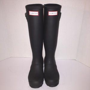 Hunter Boots Shoes - Hunter Tall Black Matte Rainboots sz 5