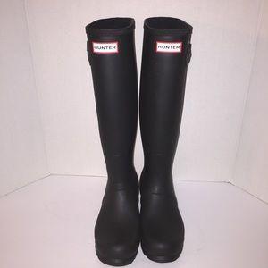 Hunter Boots Shoes - Hunter Matte Black Tall Rainboots sz 8