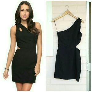 forever 21 • cut out shoulder dress
