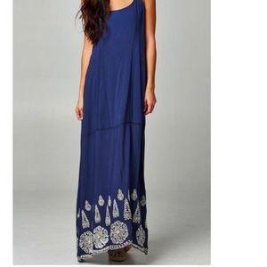 Love Stitch Dresses & Skirts - Love stitch blue eyelet maxi dress