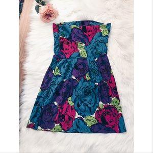 Betsey Johnson Dresses & Skirts - Betsey Johnson Floral Strapless Dress 8