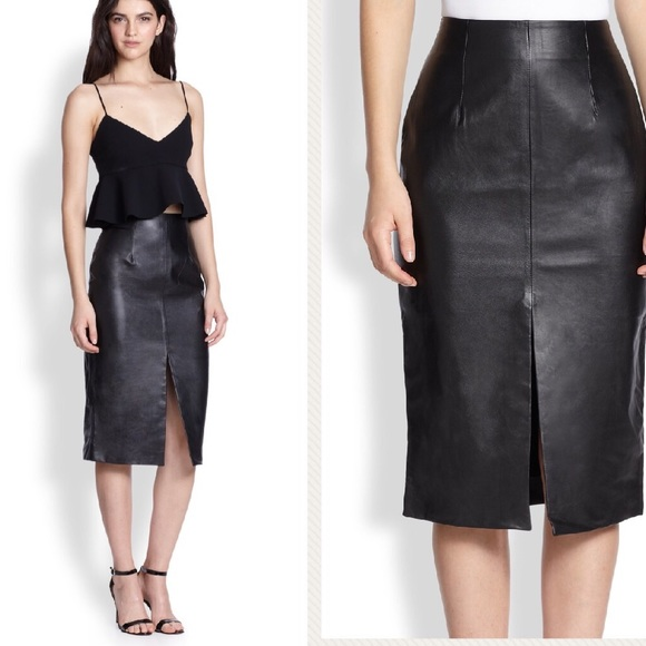 67 lf dresses skirts lf leather skirt with front