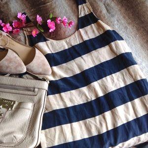 Joie Dresses & Skirts - Joie Striped Silk Tank Dress