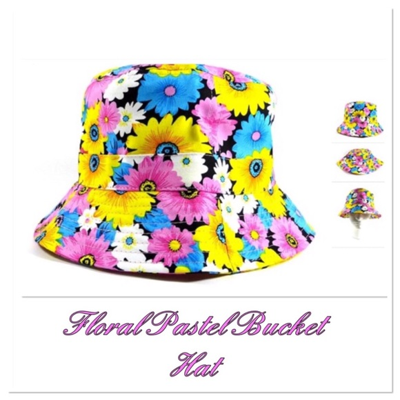 Boutique Accessories - Pastel Daisy Bucket Hat