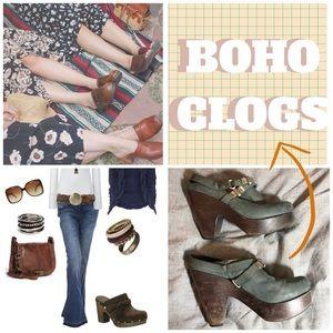 Bernardo Shoes - Funky boho clogs