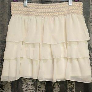 Dresses & Skirts - White-frilly mini skirt