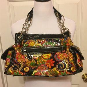 HOST PICK Unique & Colorful Black Floral Bag
