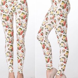 Twilight Gypsy Collective Pants - Floral Leggings- yellow flowers