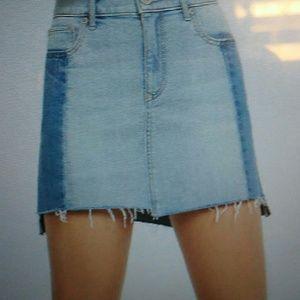 Express Dresses & Skirts - Two tone denim skirt