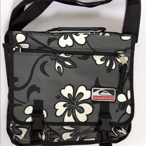 Quicksilver Other - Quicksilver Grey Hawaiian Hibiscus Messenger Bag