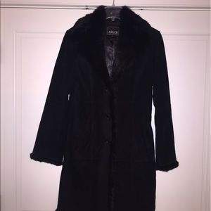 Jackets & Blazers - Leather fur trimmed Adler jacket