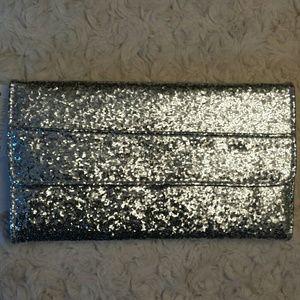 Adrienne Vittadini  Handbags - Adrienne Vittadini NWT Silver Glitter Fold out Wal