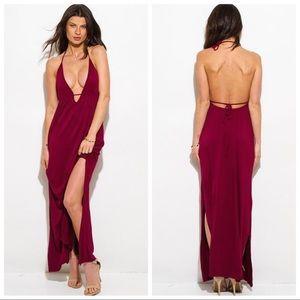 Dresses & Skirts - V-Neck Halter Backless Dress