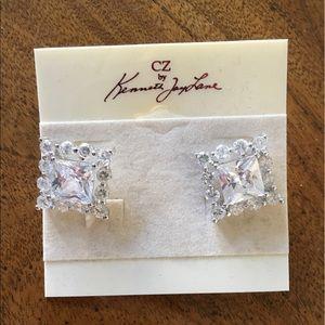 CZ by Kenneth Jay Lane cubic zirconia post earring