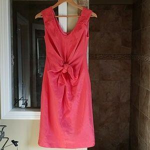 Ava & Aiden Dresses & Skirts - Ava & Aiden Coral Tie Front Sleeveless Dress