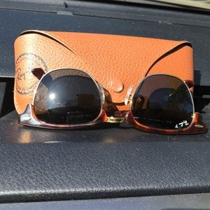 Ray Griffiths Accessories - Ray Ban Polarized Clubmaster Tortoise