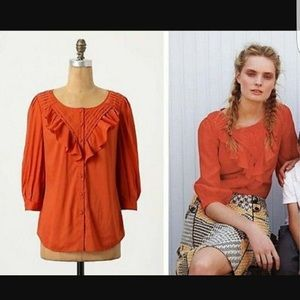 Anthropologie Maeve Nicoletta Blouse