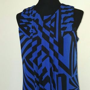 Calvin Klein Pleated Blue Dress Size Small