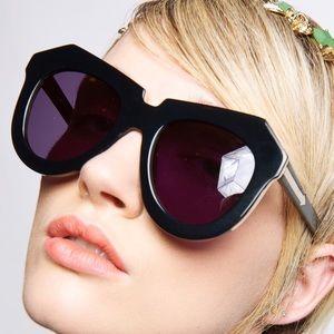 Karen Walker Accessories - Karen Walker Black Oversized Sunglasses