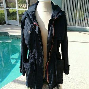 Olive & Oak Jackets & Blazers - Navy Olive & Oak Anorak Jacket