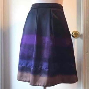 Satin Ombré Multicolor Lined Skirt, size 4