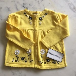 Hartstrings Other - Hartstrings Yellow Embroidered Cardigan