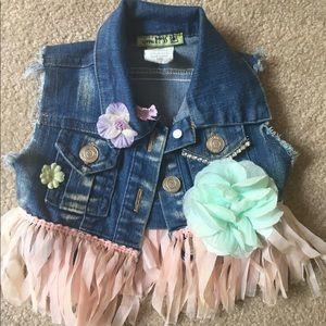 Little Mass Other - Girls Little Mass embellished denim vest. 18 mo
