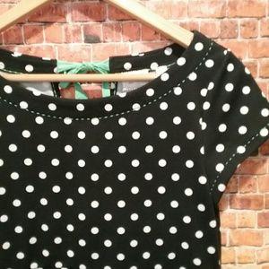 Anthropologie POSTMARK polka dot dress