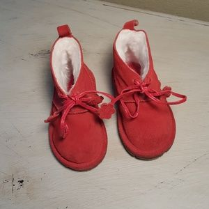 GAP Other - Baby Gap red suede boots sz 4 girls NWOT