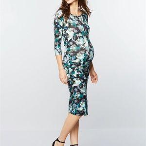Isabella Oliver Dresses & Skirts - Isabella Oliver floral midi maternity dress 💙