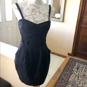 Little black dress with front pockets Sz 7