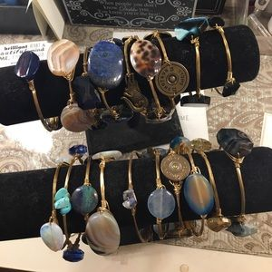 Bourbon and Bowties Jewelry - Wire Wrapped Bangles!  Some Bourbons, Some Not