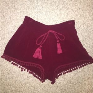 Hot Kiss Pom Pom shorts